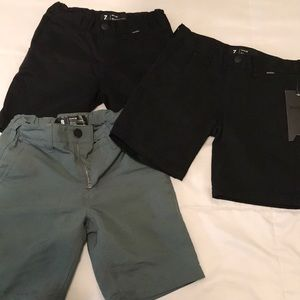 Lot of 3 pairs of Hurley boys shorts